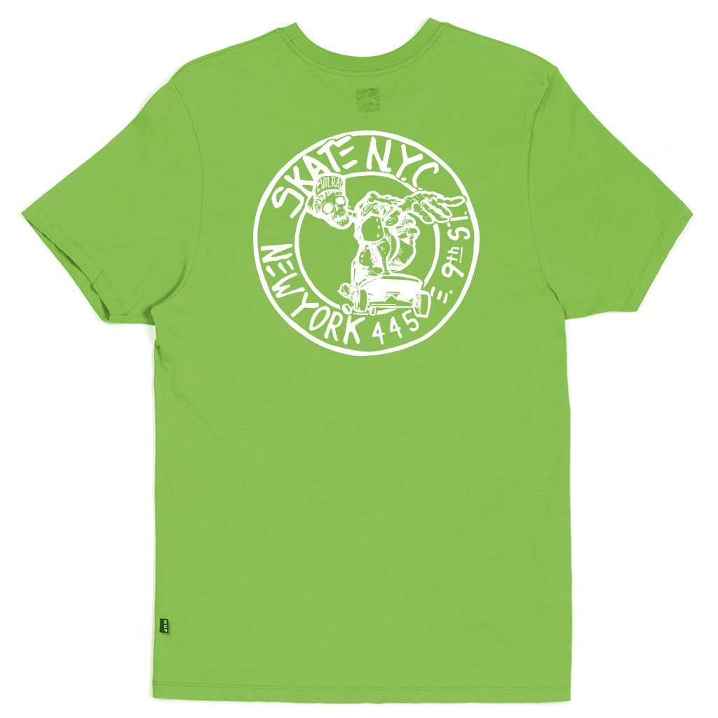 HUF X Skate NYC Address s/s t shirt lime