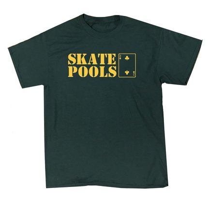Low Card Skate Pools T-Shirt Forest Green