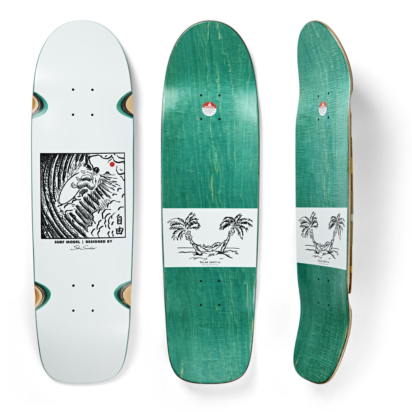 Polar Shin Sanbongi Freedom White Surf Jr 8.75 x 31.5