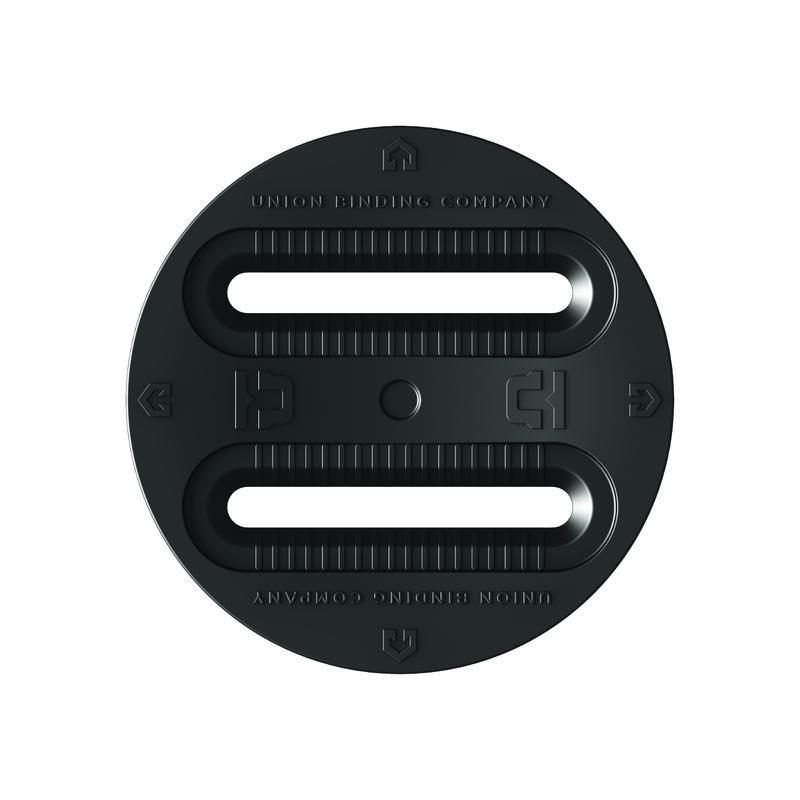 Union 3 Hole (4 X 4,  3 Hole)  Disks    Black
