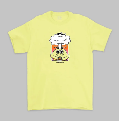 Blast Skates Brain Blast S/S T-Shirt - Light Yellow