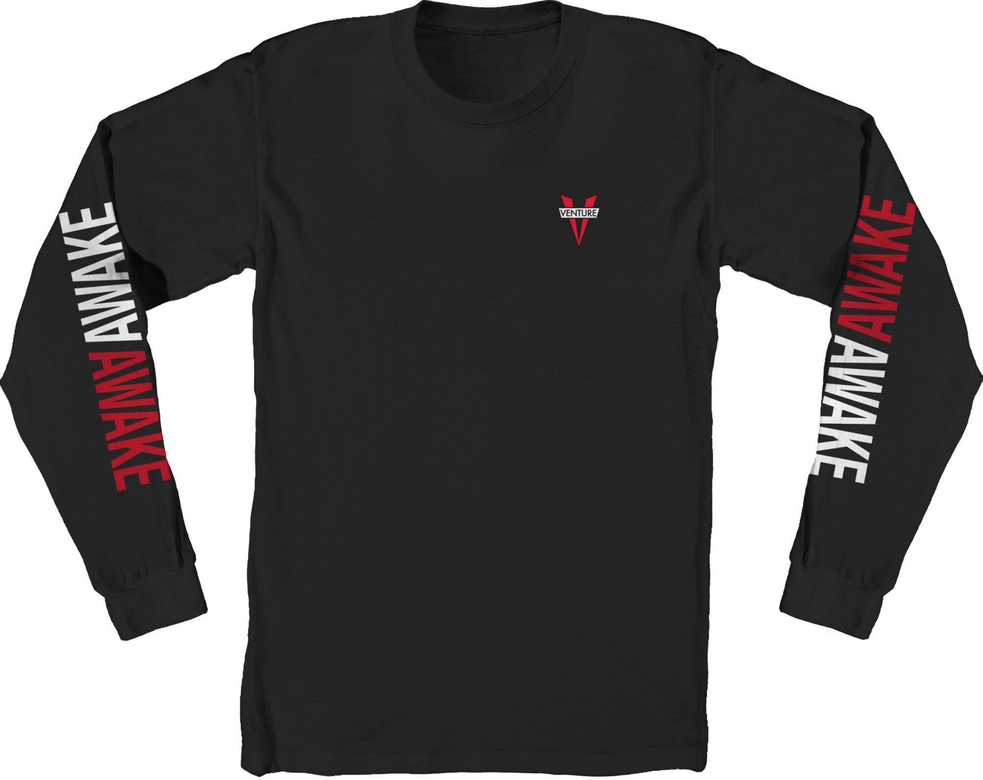 Venture Awaken Longsleeve Tee Black/White/Red