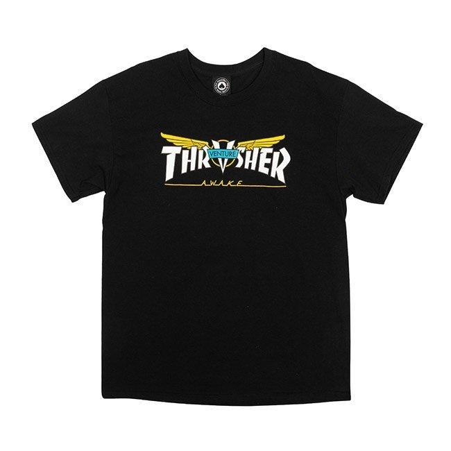 Thrasher Venture Collab  s/s T-Shirt (Black)