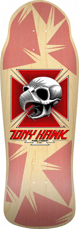 Bones Brigade Tony Hawk 11th Series Reissue Skateboard Deck Natural - 10.41 x 30.28