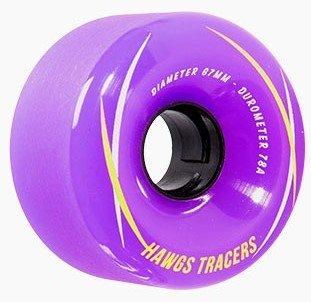 Landyachtz Hawgs Tracers 67mm 78a purple set of 4