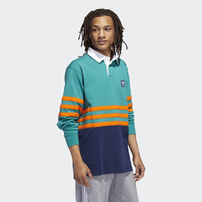 Adidas Winchell Polo Teal/Orange/Purple