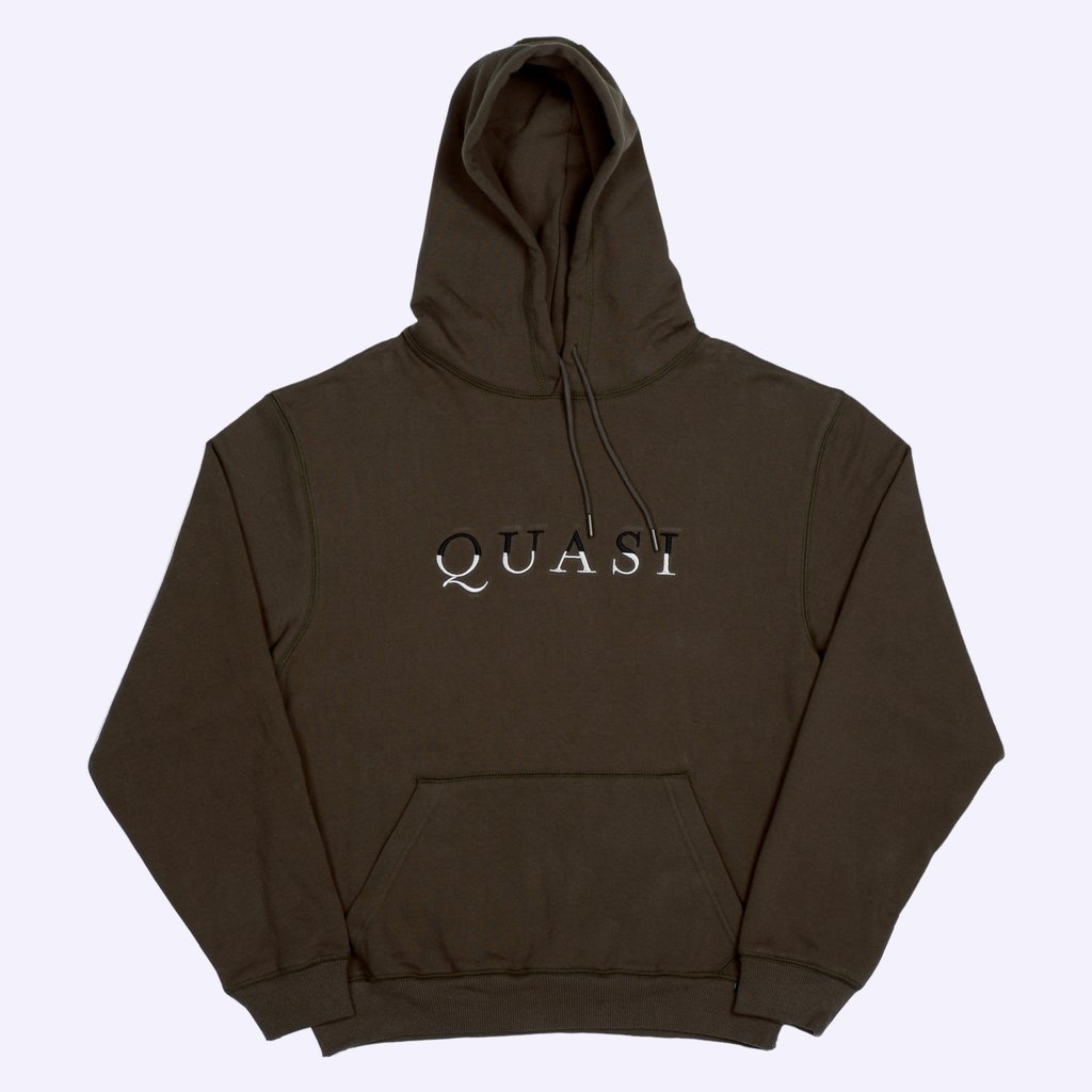 Quasi Wordmark Hooded Sweatshirt dark olive