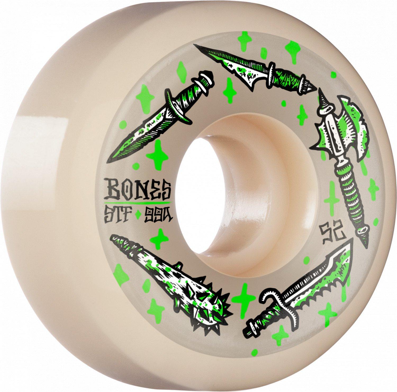 BONES WHEELS STF Skateboard Wheels Dark Days 52mm V5 Sidecut 99a