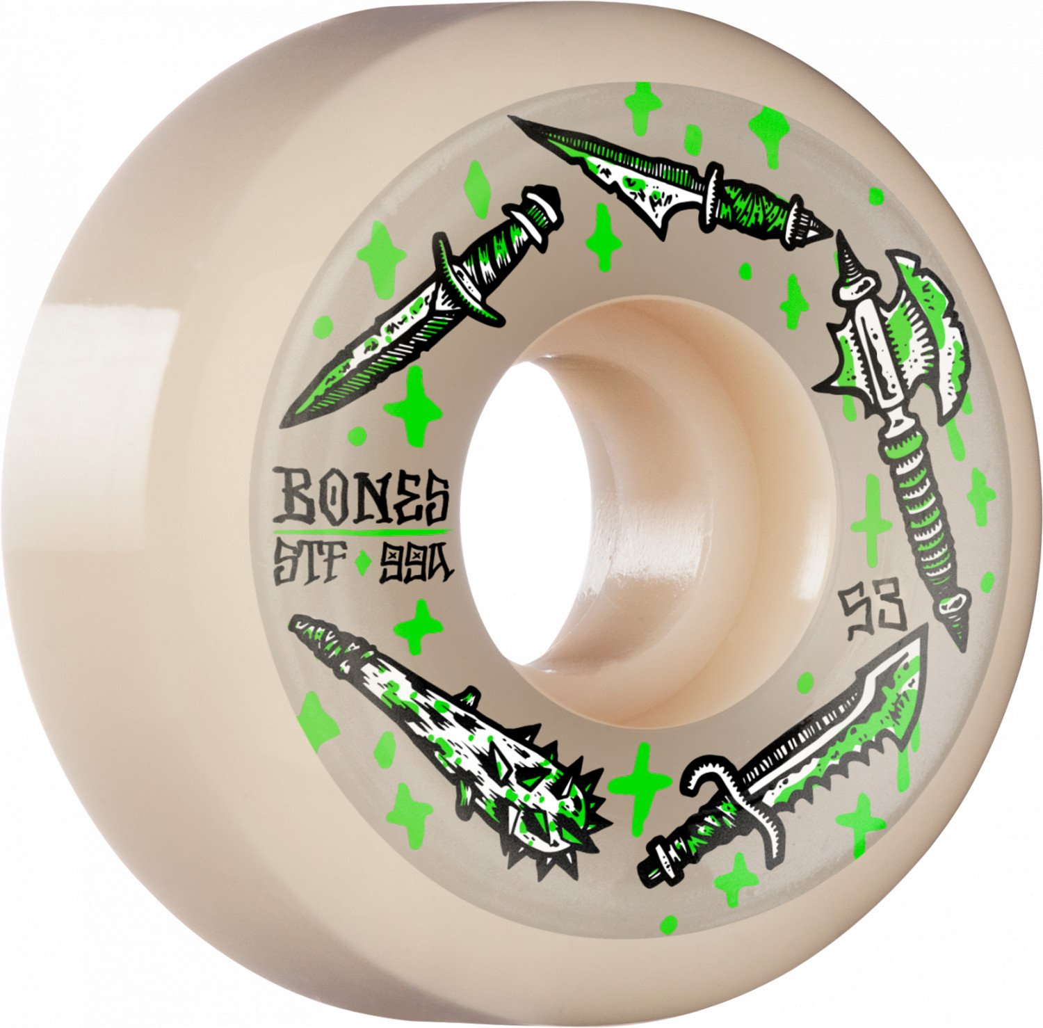 BONES WHEELS STF Skateboard Wheels Dark Days 53mm V5 Sidecut 99A