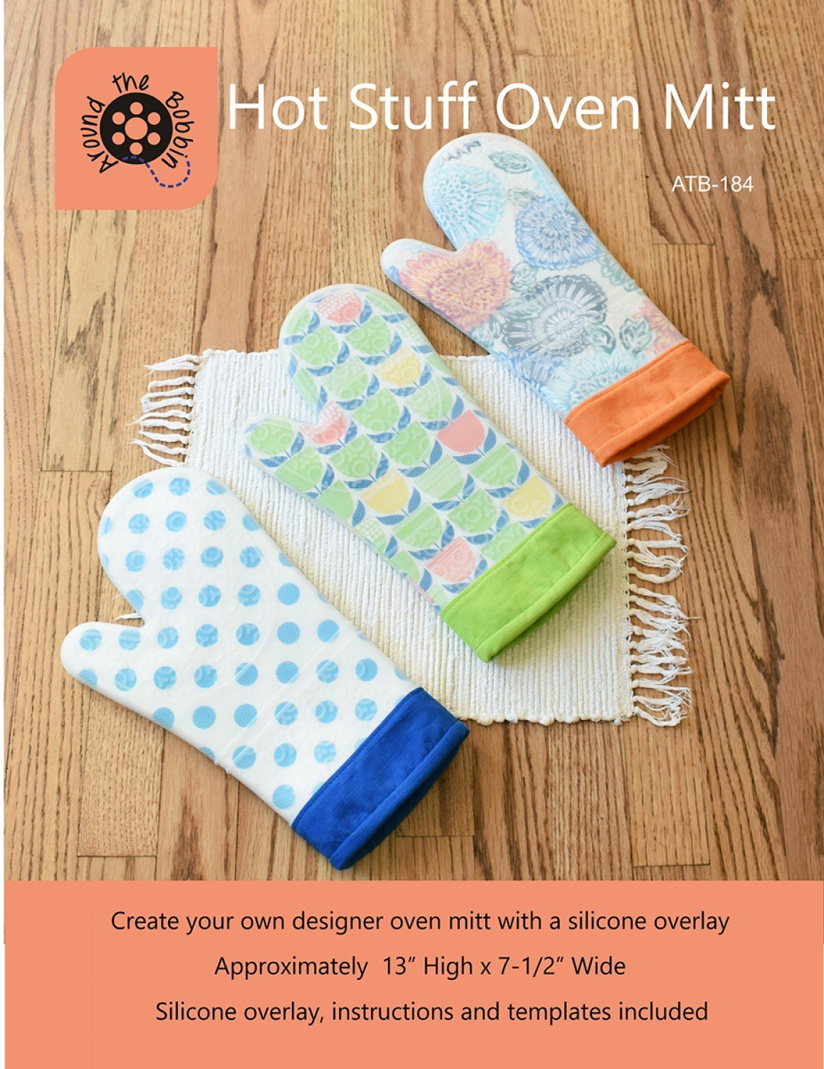 Hot Stuff Oven Mitt by Around the Bobbin