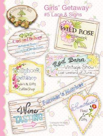 Girls Getaway #5 Lace and Signs by Crabapple Hill Studios