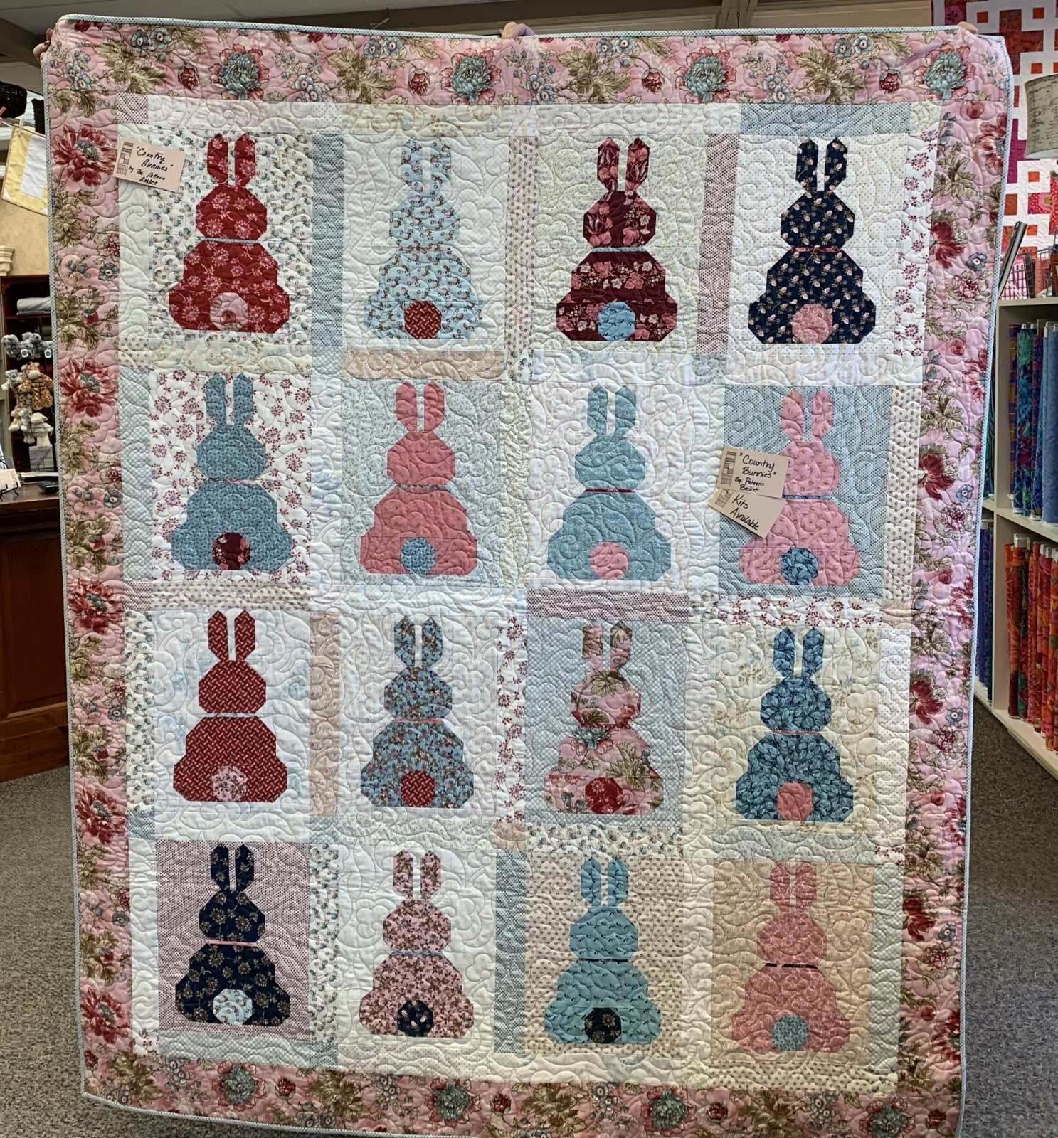 Country Bunnies Kit Quilt Kit and Pattern