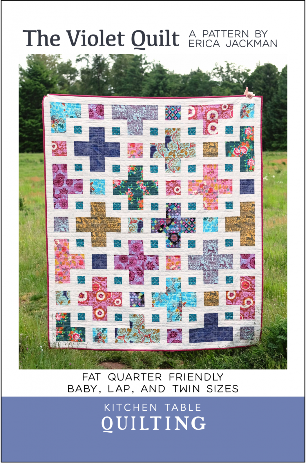 The Violet Quilt from Kitchen Table Quilting