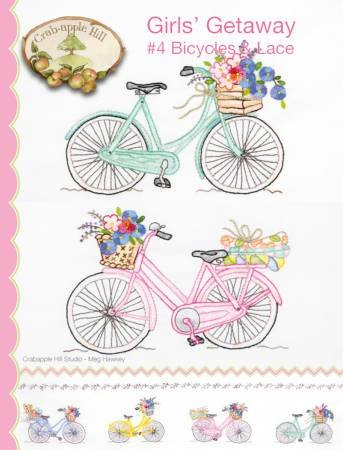Girls Getaway #4 Bicycles and Lace by Crabapple Hill Studios