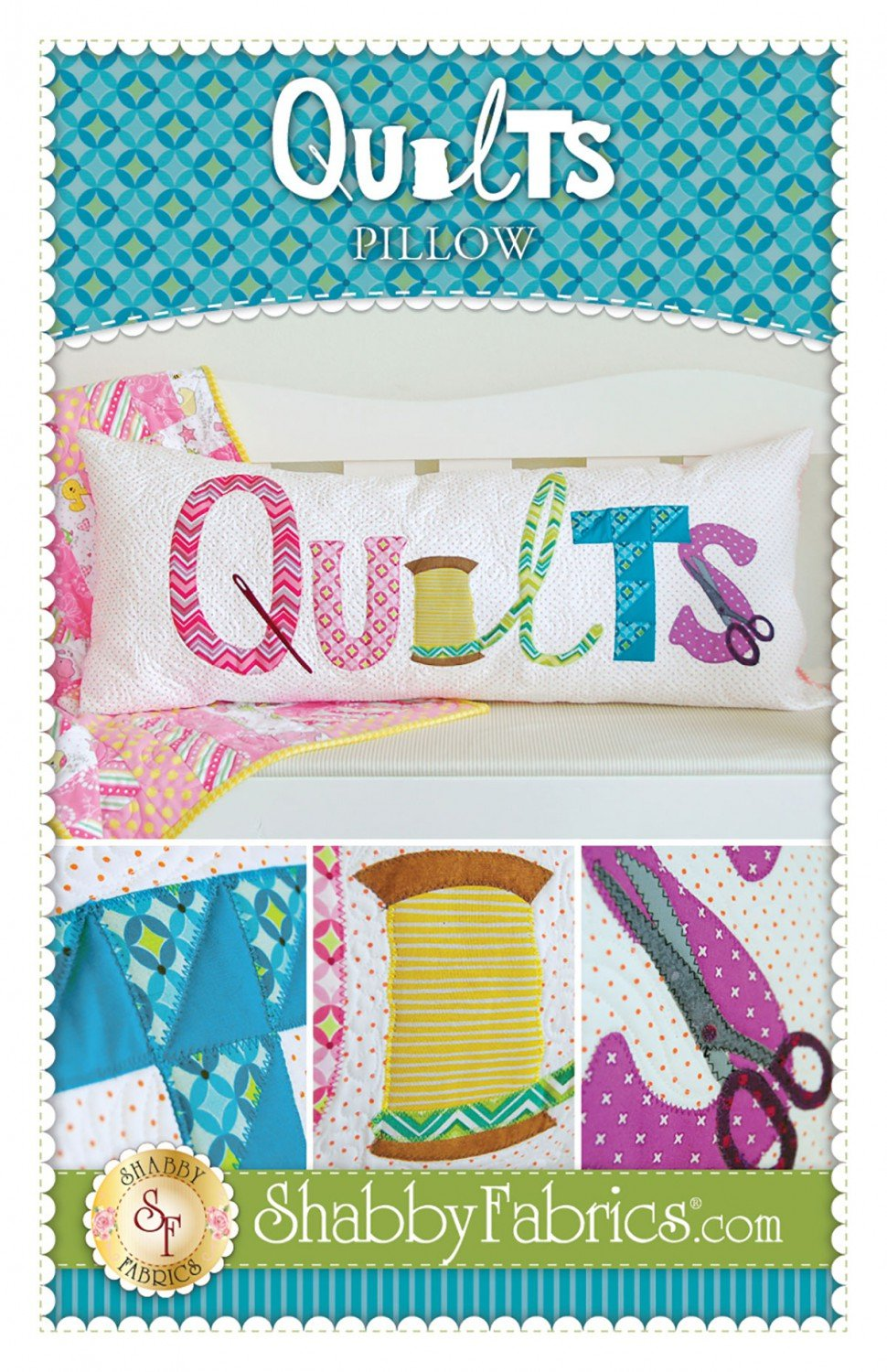 Quilts Pillow by Shabby Fabric