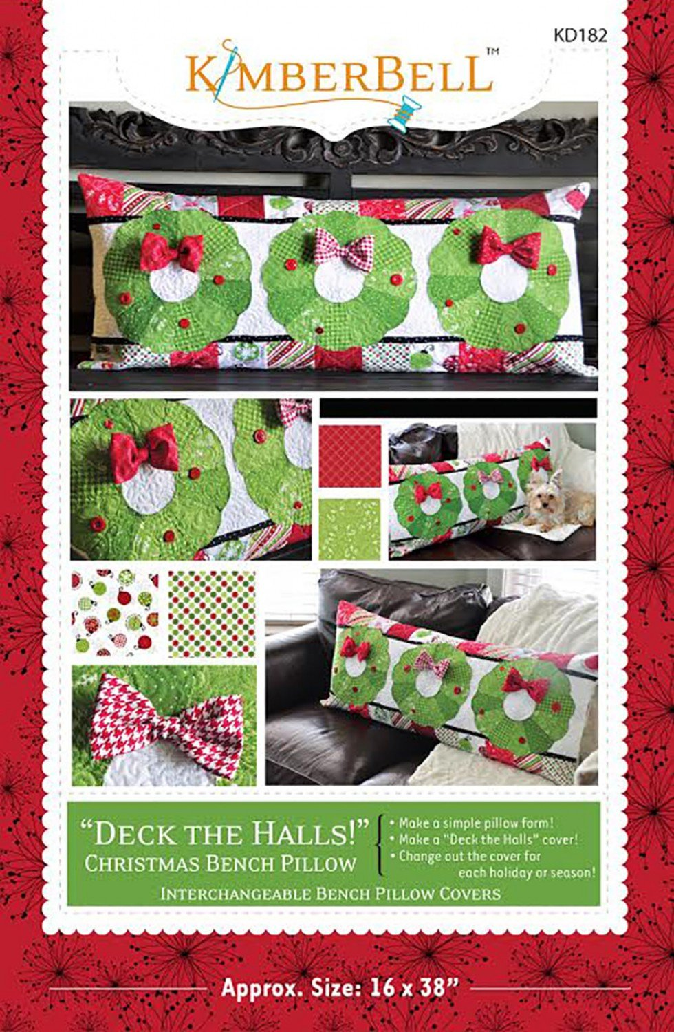 Deck the Halls Bench Pillow by Kimberbell