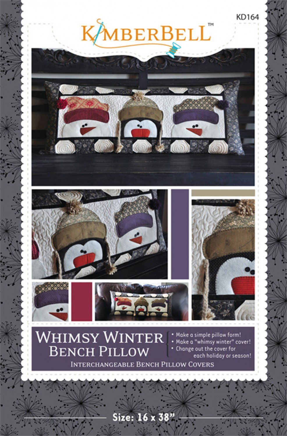 Whimsy Winter Bench Pillow by Kimberbell