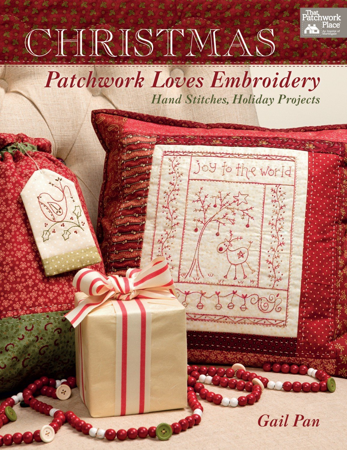 Christmas Patchwork Love Embroidery from The Patchwork Place by Gail Pans