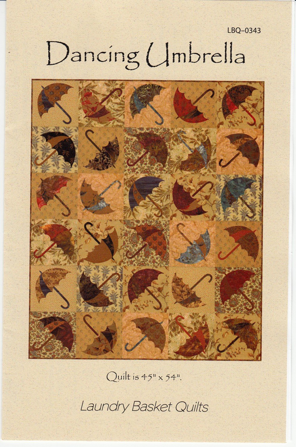 Dancing Umbrellas from Laundry Basket Quilts by Edyta Sitar