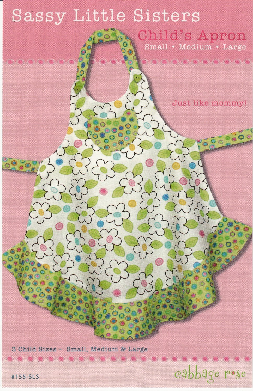 Sassy Little Sisters Child's Apron by Cottage Rose