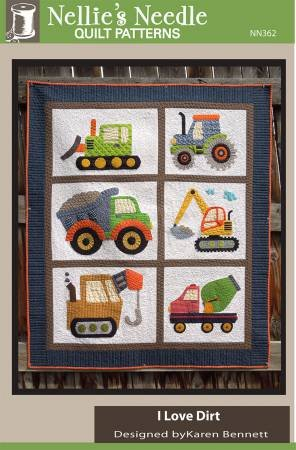 I Love Dirt by Karen Bennett from Nellies Needles Quilt Patterns