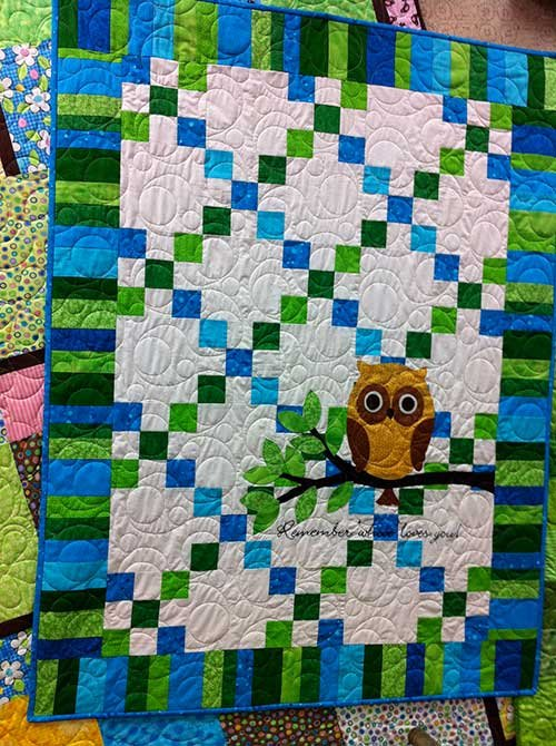 Remember Whooo Loves You by Acorn Quilt & Gift Co.