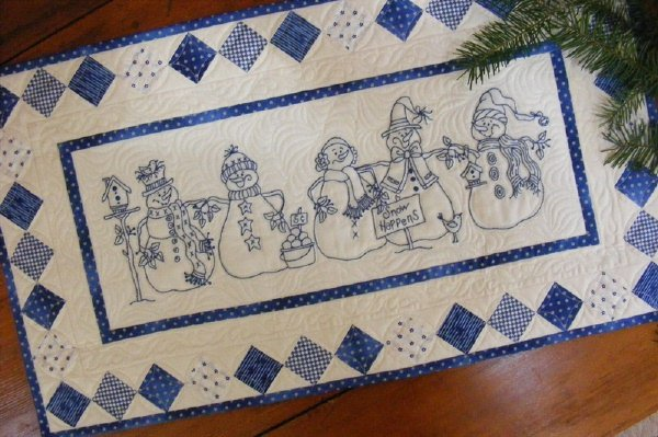 Snow Happens! Table Runner