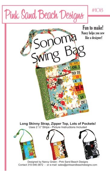 The Sonoma Swing Bag by Pink Sand Beach Designs