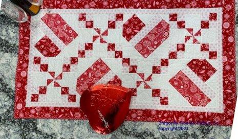 Hearts Full of Love Table Runner