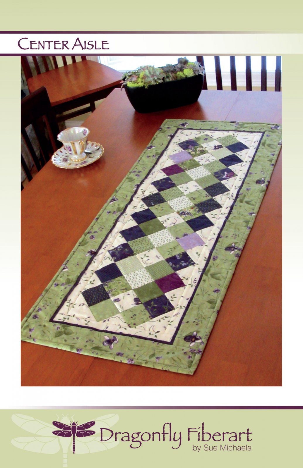 Center Aisle Table Runner Pattern Card