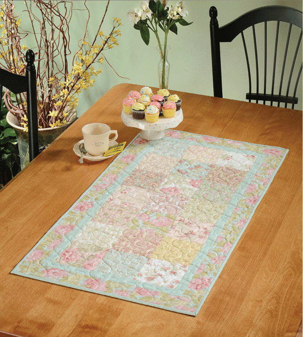 Charming Afternoon Table Runner Pattern Card