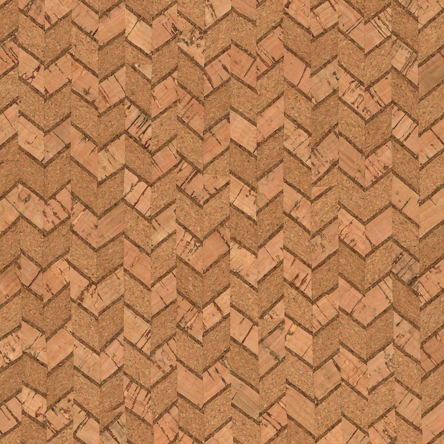 Natural Chevron Cork Fabric