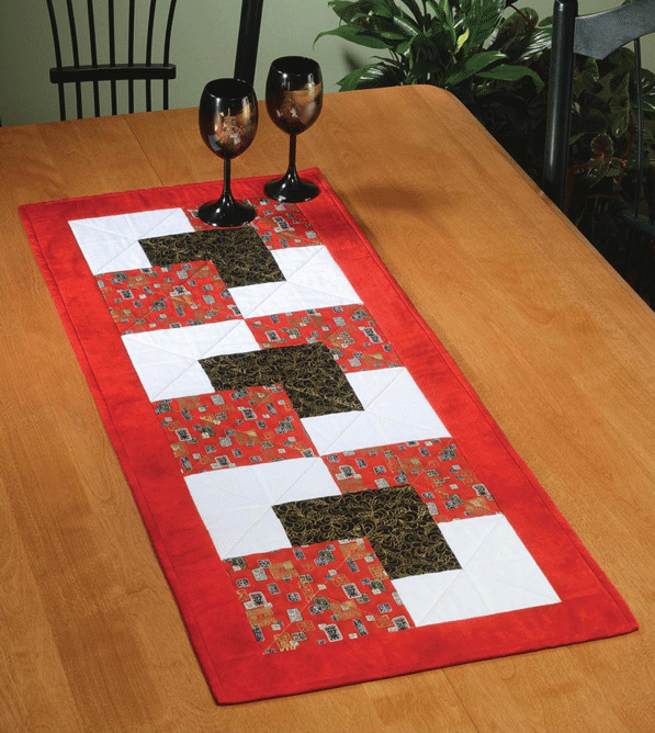 Courtyard Table Runner Pattern Card