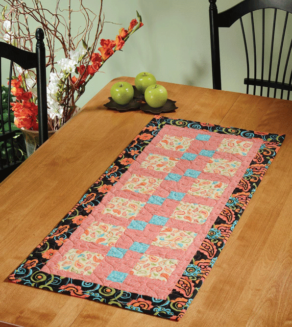 Disappearing Act Table Runner Pattern Card