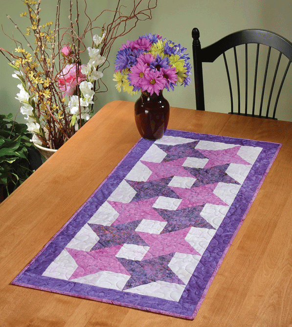 Galaxy Table Runner Pattern Card