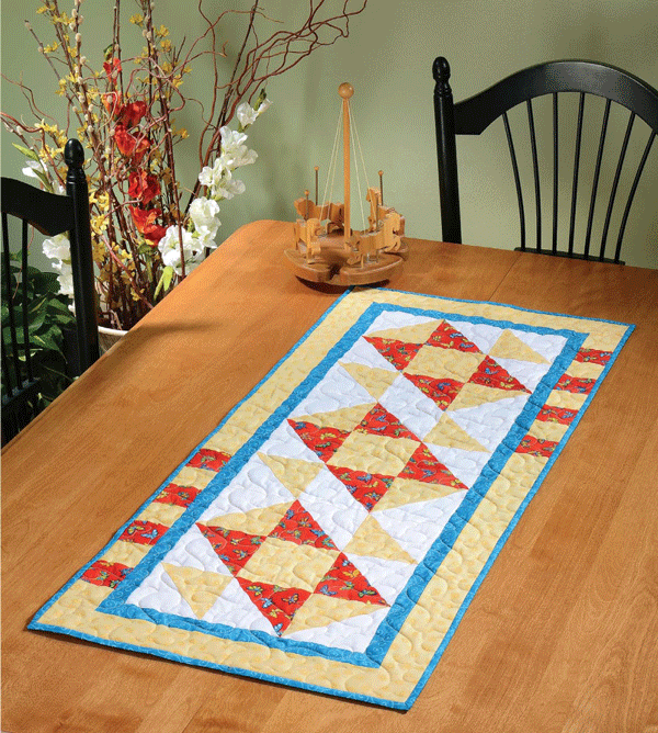 Go Fly A Kite! Table Runner Pattern Card