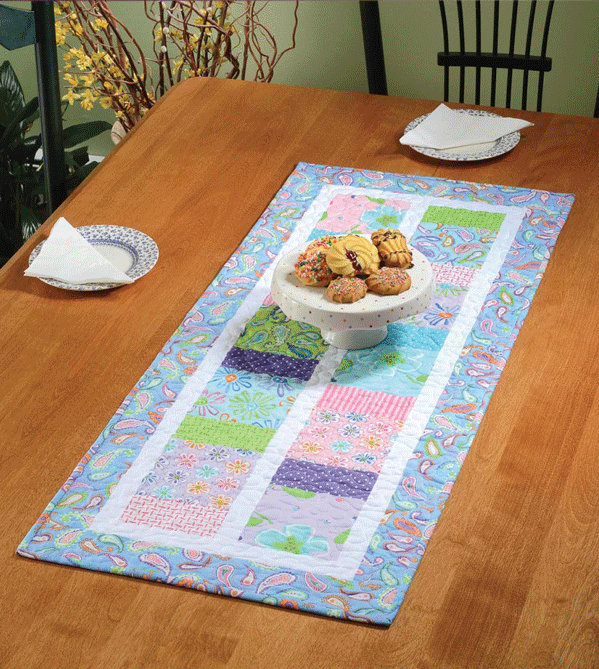 How Charming To Sew You Table Runner Pattern Card