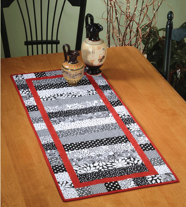 Monochromatic Table Runner Pattern Card