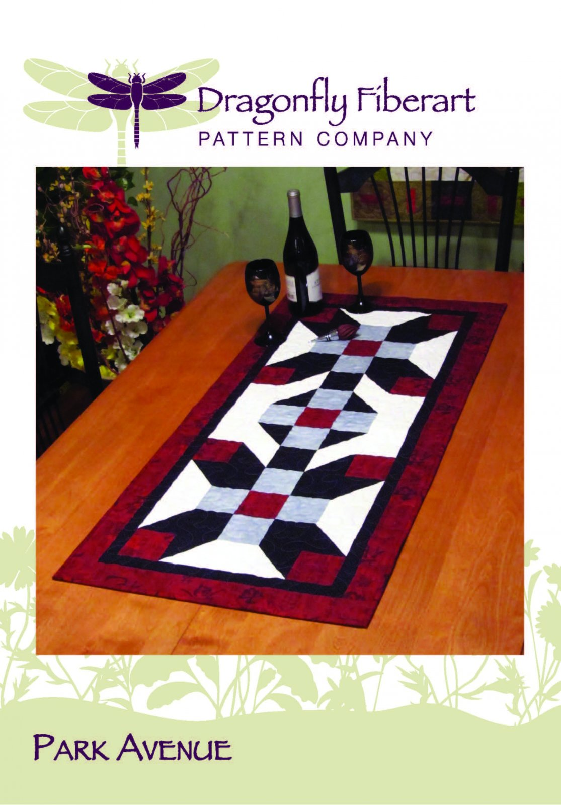 Park Avenue Table Runner Pattern Card - SALE - Discontinued