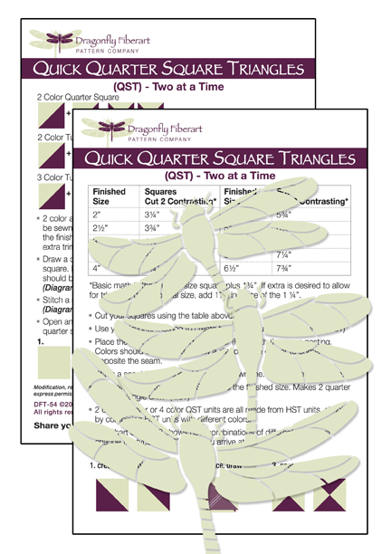 Quick Quarter Square Triangles