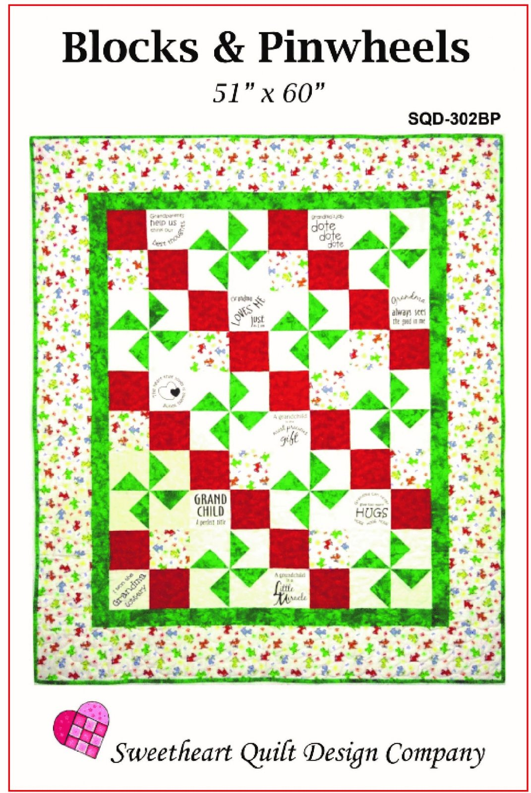 Blocks and Pinwheels Pattern and Panel