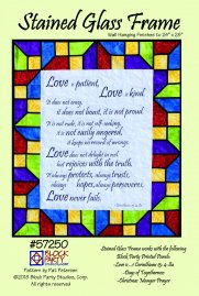 Stained Glass Frame Pattern & Panel