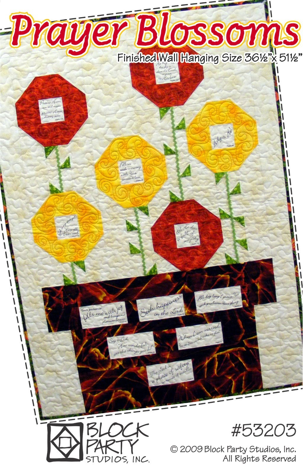 Prayer Blossoms Quilt Pattern Only