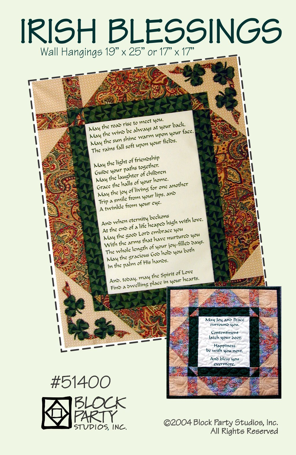 Irish Blessings Quilt Pattern Only
