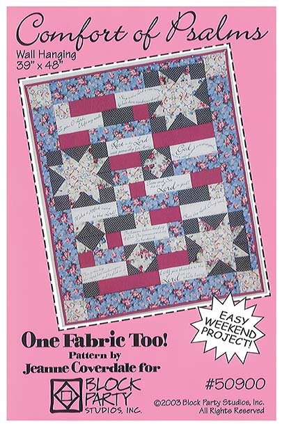 Comfort Of Psalms Quilt Pattern With Comfort Of Psalms Panel In