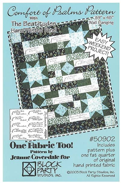 Comfort of Psalms Quilt Pattern with Beatitudes Panel