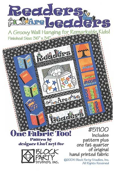 Readers Are Leaders Quilt Pattern/Panel