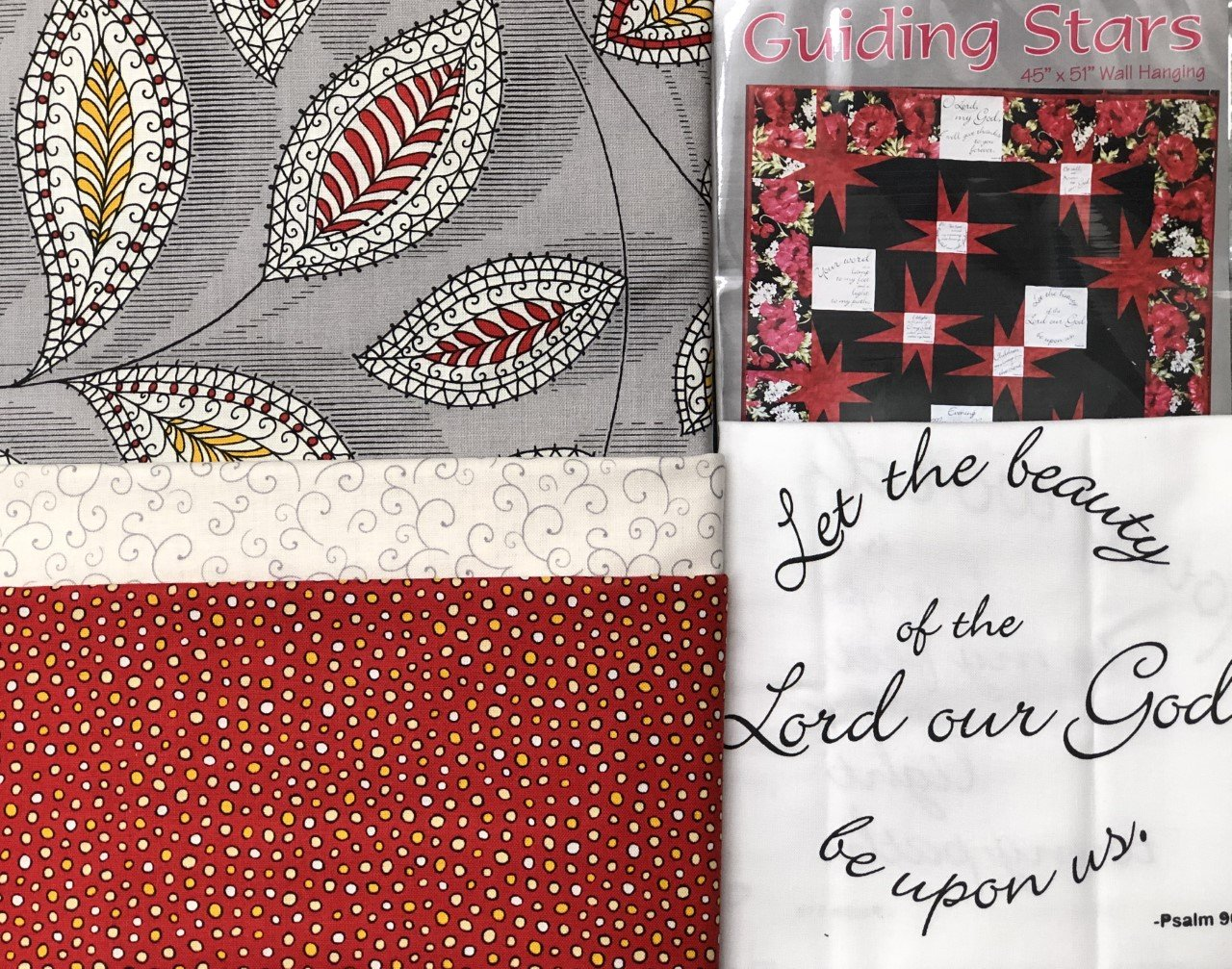 Guiding Stars Quilt Kit - Red & Gray