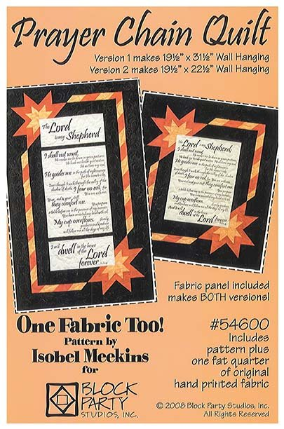 Prayer Chain Quilt Pattern with Psalm 40 Panel 40 New Quilt Patterns Using Panels