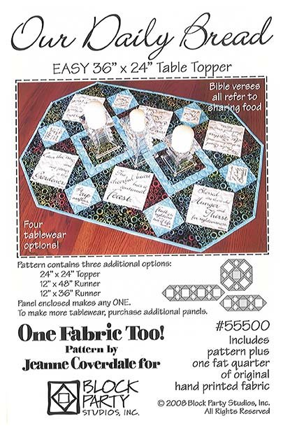 Our Daily Bread Quilt Pattern and Panel